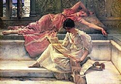 The favourite poem Alma-Tadema Sir Lowrence