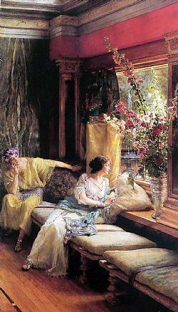 Vain courtship Alma-Tadema Sir Lowrence