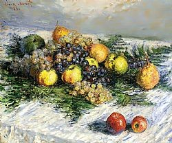 Pears and grapes Monet Glaude