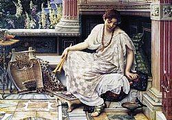 Girl reading Perugini Charles