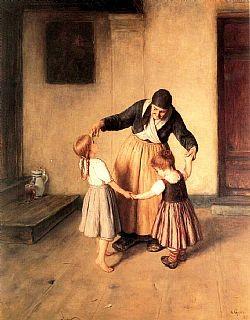 Η γιαγιά που χορεύει με τα εγγόνια της Γύζης Νικόλαος