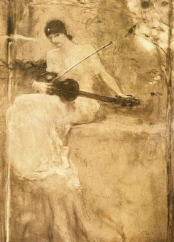H ποίηση συντονίζει το βιολί της με το τραγούδι της Φύσης Γύζης Νικόλαος