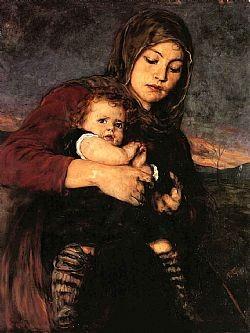 Μάνα με παιδί Γύζης Νικόλαος