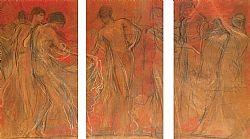 O χορός των Μουσών (Τρίπτυχο) Γύζης Νικόλαος