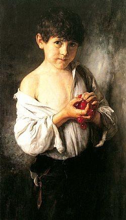 Το παιδί με τα κεράσια Γύζης Νικόλαος